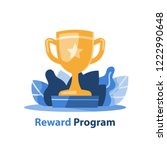 reward program  winner golden... | Shutterstock .eps vector #1222990648