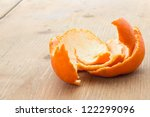 Tangerine Peel On The Table In...