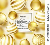 christmas background with tree... | Shutterstock .eps vector #1222991248
