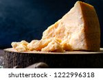 pieces of parmesan cheese on...   Shutterstock . vector #1222996318