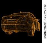 wireframe car | Shutterstock .eps vector #122299642