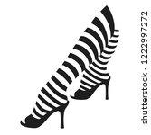 female legs in striped stockings | Shutterstock .eps vector #1222997272