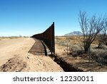 end of u.s. mexico border fence ... | Shutterstock . vector #12230011