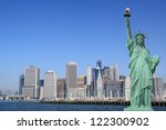 manhattan skyline and the... | Shutterstock . vector #122300902