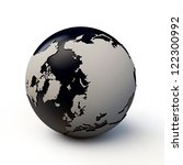 planet earth with extruded continents isolated on white background - stock photo