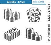 money   cash icons....   Shutterstock .eps vector #1223017615