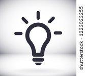vector icon bulb 10 eps | Shutterstock .eps vector #1223023255