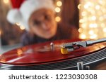 blurred image of christmas.... | Shutterstock . vector #1223030308