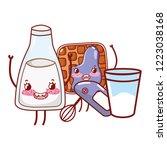 kitchen and food kawaii cartoons   Shutterstock .eps vector #1223038168