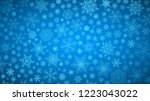 christmas background of big and ... | Shutterstock . vector #1223043022