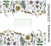 template greeting card or...   Shutterstock .eps vector #1223045062