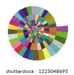 color hypnotic spiral tiles.... | Shutterstock .eps vector #1223048695