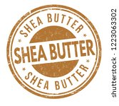 shea butter sign or stamp on... | Shutterstock .eps vector #1223063302