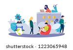 web page design template for... | Shutterstock .eps vector #1223065948