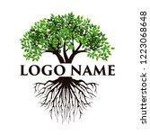 tree logo  vector isolated of... | Shutterstock .eps vector #1223068648