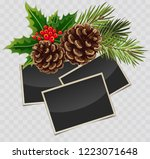vector branch of christmas tree ... | Shutterstock .eps vector #1223071648