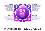 infographic purple template 4... | Shutterstock .eps vector #1223072125