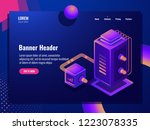 data filter isometric icon  web ... | Shutterstock .eps vector #1223078335