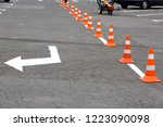 parking for cars with white... | Shutterstock . vector #1223090098