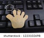 Key Chain Hand Shape Wood On...