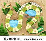 simple board game template...   Shutterstock .eps vector #1223113888
