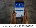 chiang mai  thailand nov 07... | Shutterstock . vector #1223114338