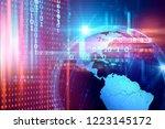3d rendering of  earth on hi... | Shutterstock . vector #1223145172