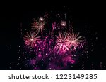 fireworks light up the sky with ... | Shutterstock . vector #1223149285