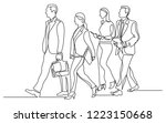 continuous line drawing of... | Shutterstock .eps vector #1223150668