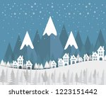 winter weather and blue... | Shutterstock .eps vector #1223151442