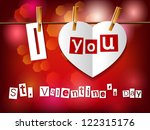 valentine s day card. paper... | Shutterstock .eps vector #122315176