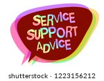 text sign showing service... | Shutterstock . vector #1223156212