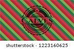 calves christmas emblem. | Shutterstock .eps vector #1223160625