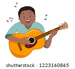illustration of a teenage guy... | Shutterstock .eps vector #1223160865