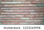 red brick texture. vintage wall ... | Shutterstock . vector #1223163958