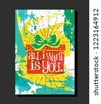 holiday design with abstract... | Shutterstock .eps vector #1223164912