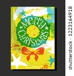 holiday design with abstract... | Shutterstock .eps vector #1223164918