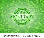 monetary green emblem with... | Shutterstock .eps vector #1223167012