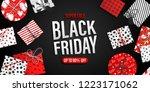 black friday sale banner. cool... | Shutterstock .eps vector #1223171062