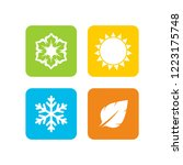 a set of four seasons icons.... | Shutterstock .eps vector #1223175748