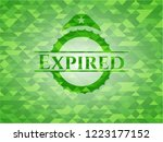 expired realistic green emblem. ... | Shutterstock .eps vector #1223177152