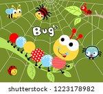 animals cartoon vector with... | Shutterstock .eps vector #1223178982