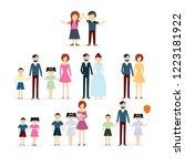 family vector concept... | Shutterstock .eps vector #1223181922