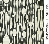 cutlery seamless pattern icons... | Shutterstock .eps vector #122318446