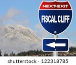 fiscal cliff road sign | Shutterstock . vector #122318785