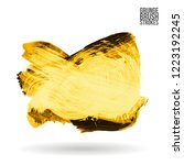 yellow brush stroke and texture.... | Shutterstock .eps vector #1223192245