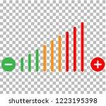 volume adjustment icon. volume... | Shutterstock .eps vector #1223195398
