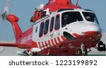 Hems Ambulance Helicopter At...