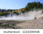 view of sulfur fumes coming out ...   Shutterstock . vector #1223200438