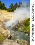 view of sulfur fumes coming out ...   Shutterstock . vector #1223200462